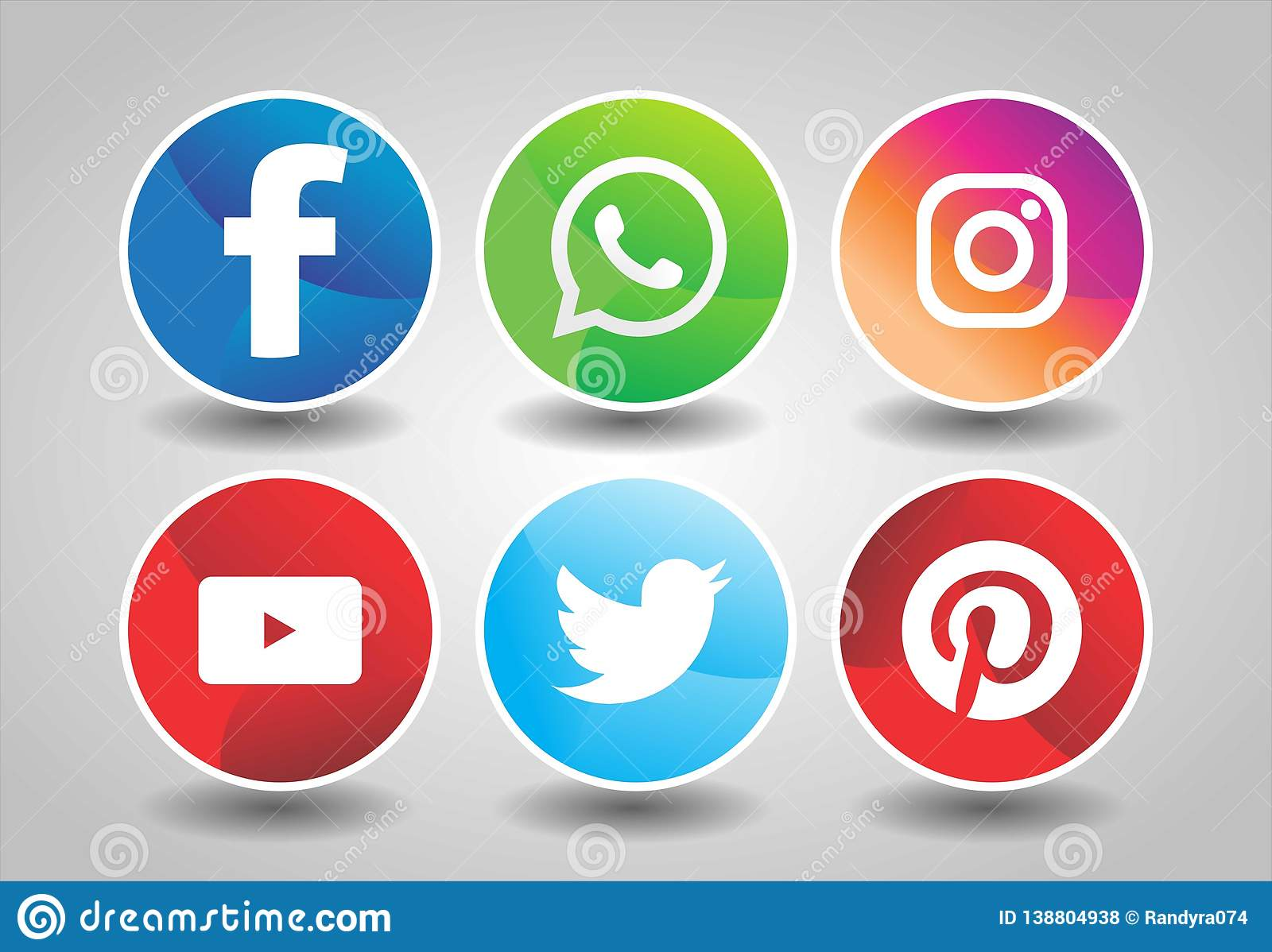 Social Media Logos Pack Collection Of Social Media Icons And Logos Stock Editorial Stock Photo Illustration Of Path Social 138804938