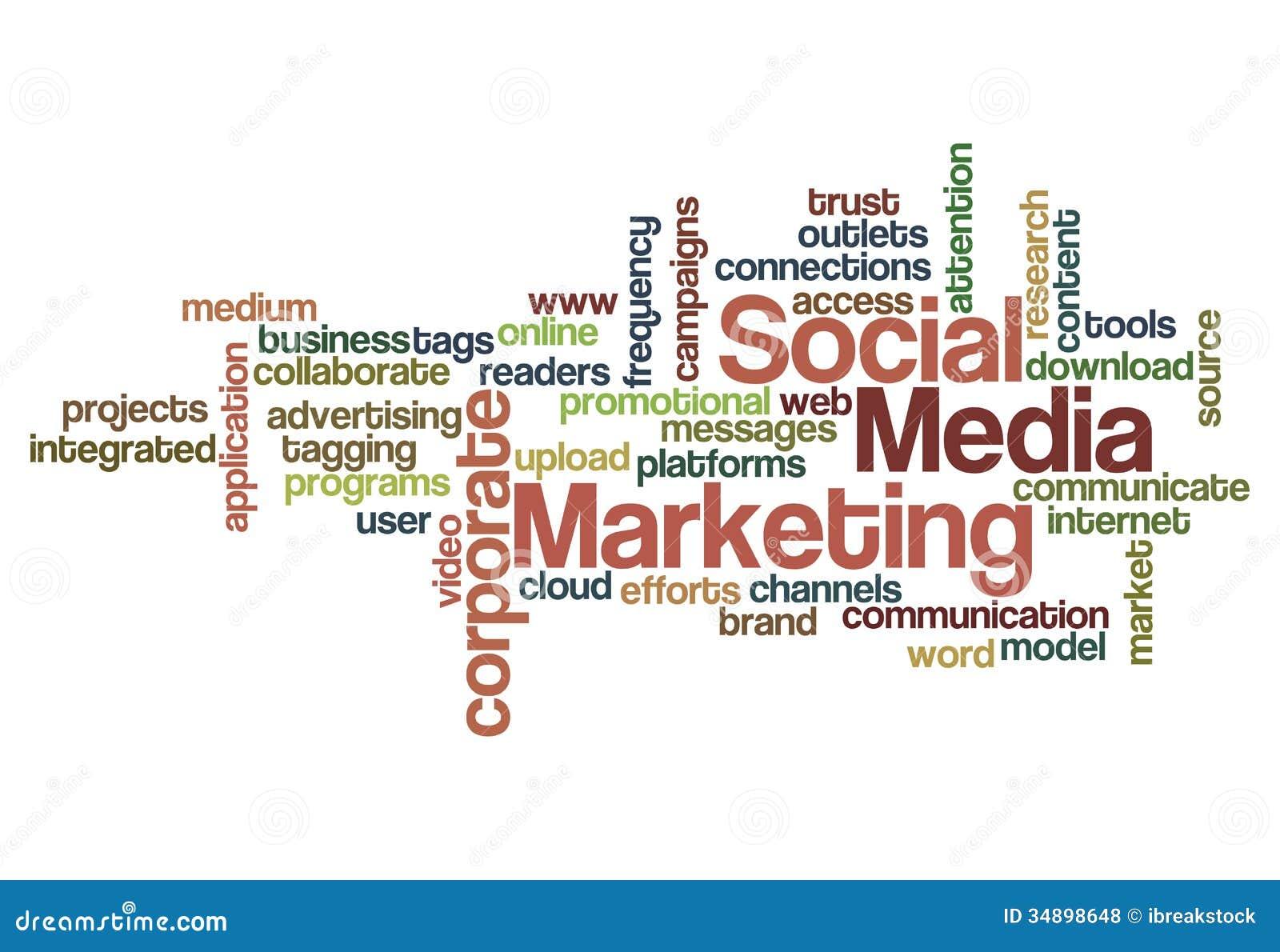 Social Media Marketing Concept Background Stock