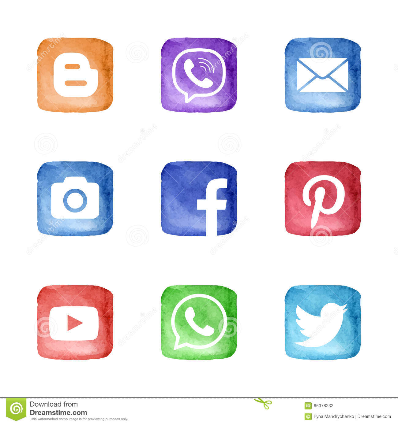 Social Media Network Icons Set Editorial Photography