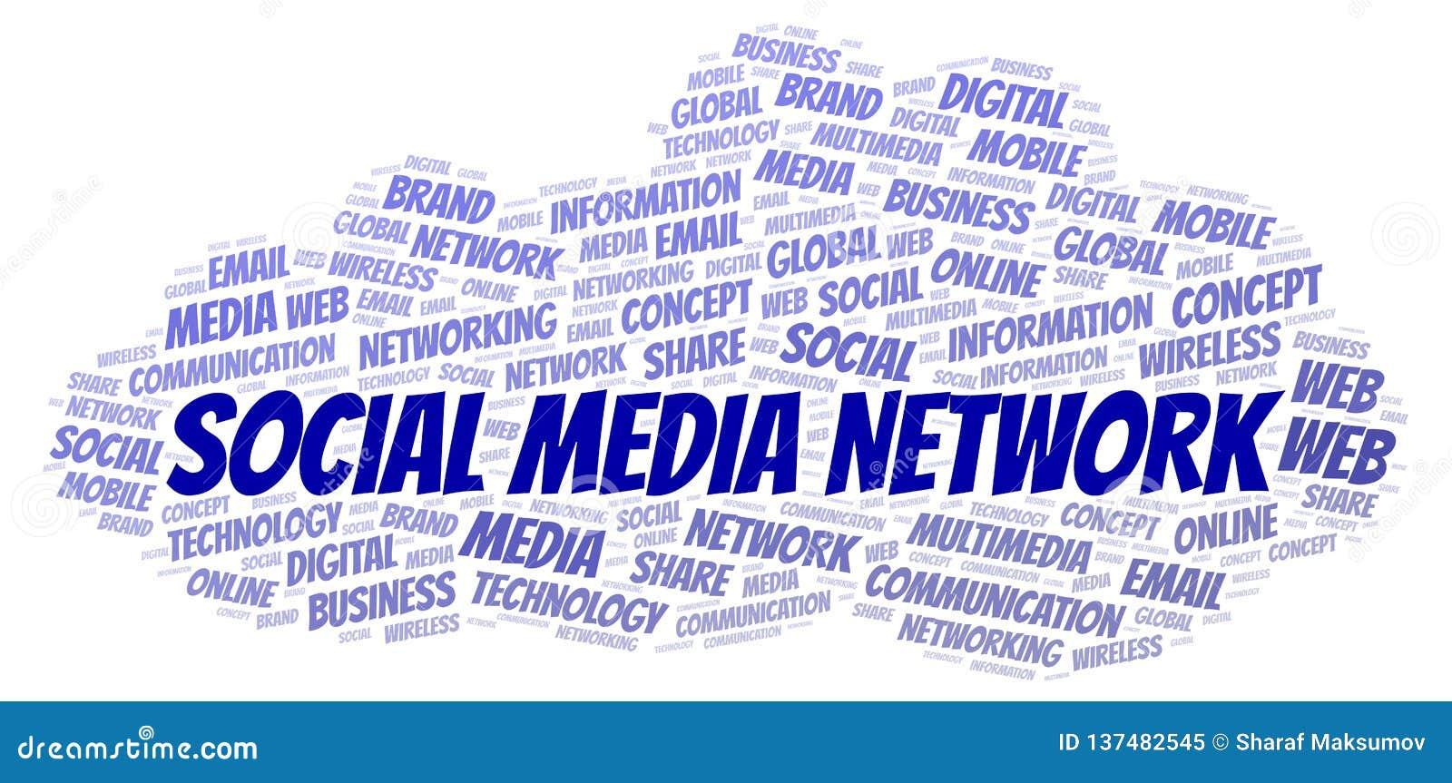 Social Media Network word cloud