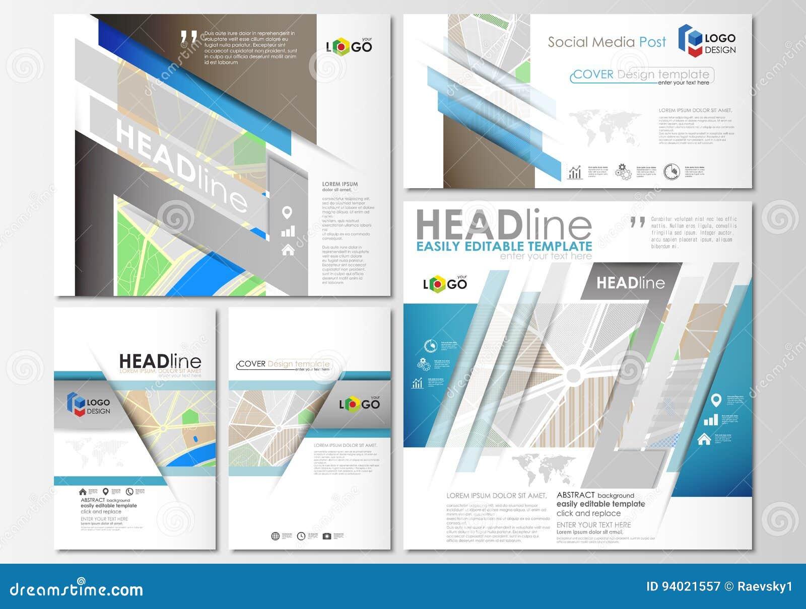 social media posts set business templates easy editable layouts in popular formats city map. Black Bedroom Furniture Sets. Home Design Ideas