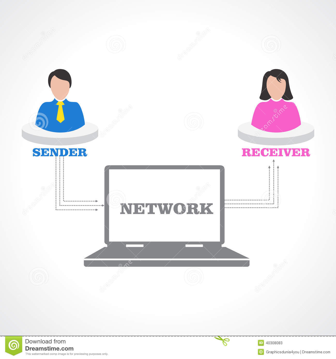 Social media relation concept stock vector image 40308083 for Relation sociale