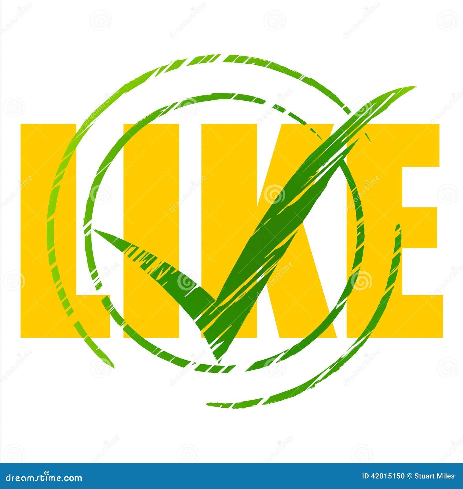 Social Media Represents Tick Symbol And Facebook Stock Illustration