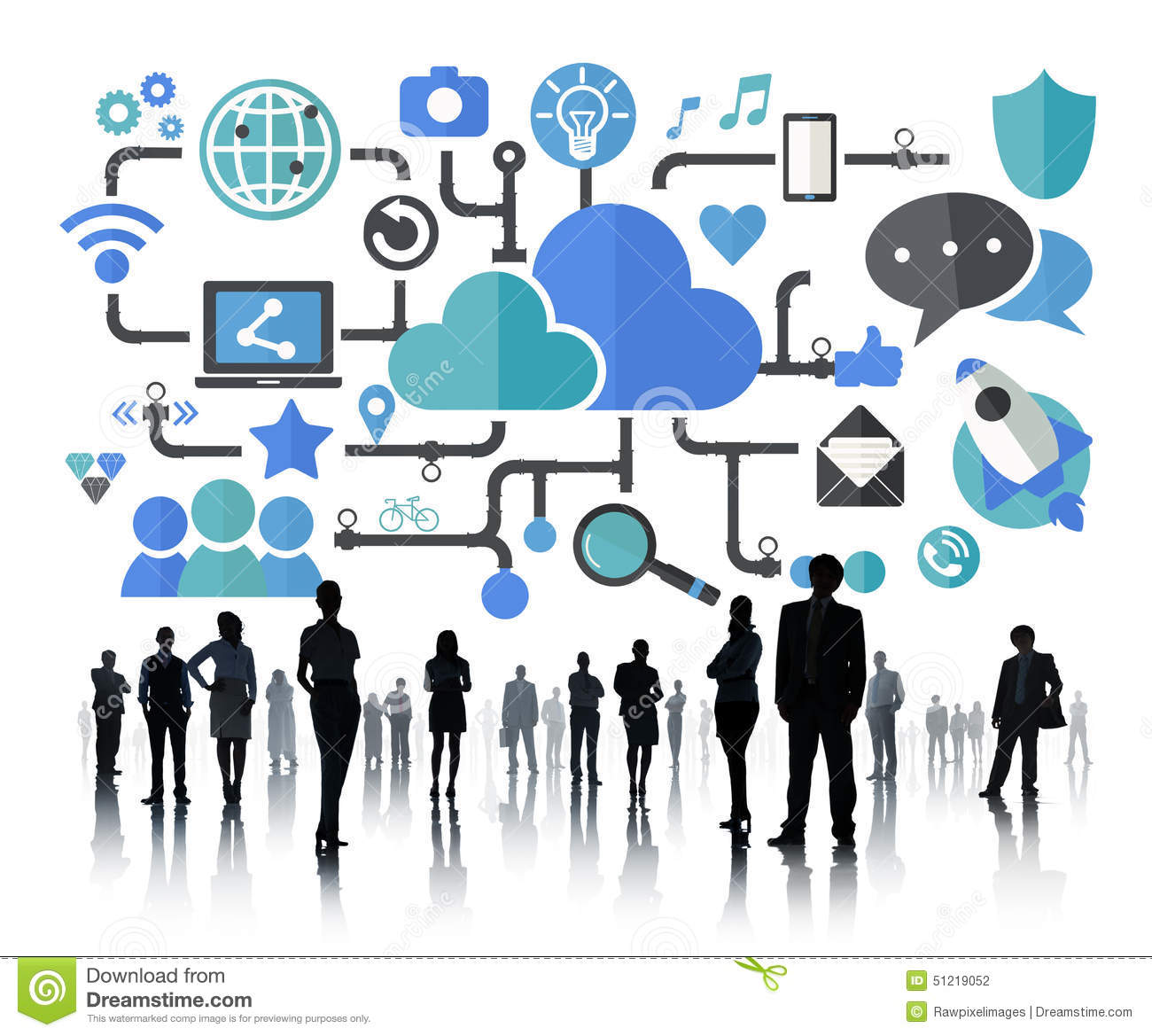 Download Social Media Social Networking Connection Data Storage Concept  Stock Illustration   Illustration Of Occupation,