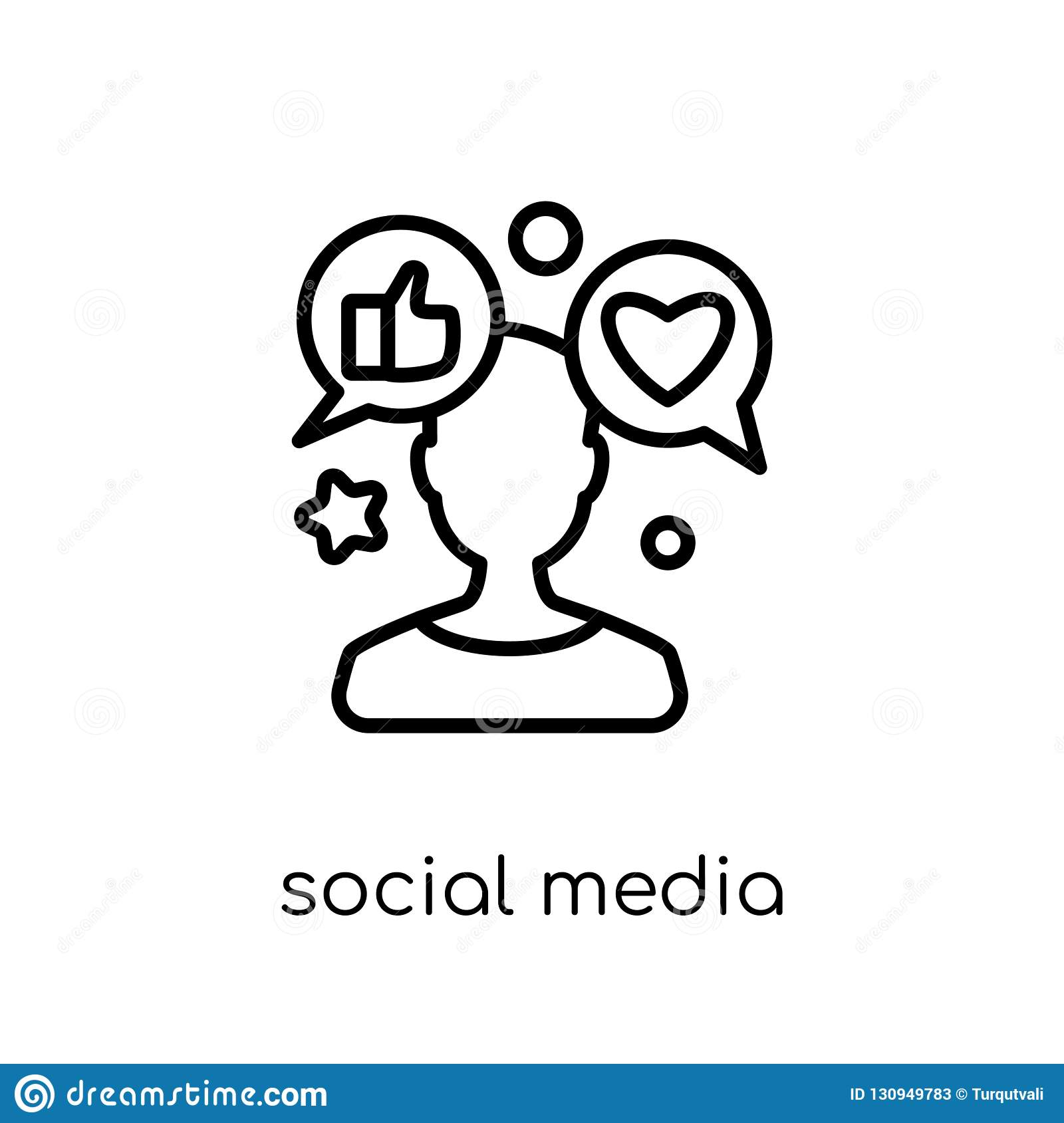 Social Media Specialist Icon Trendy Modern Flat Linear Vector S Stock Vector Illustration Of Profile Isometric 130949783