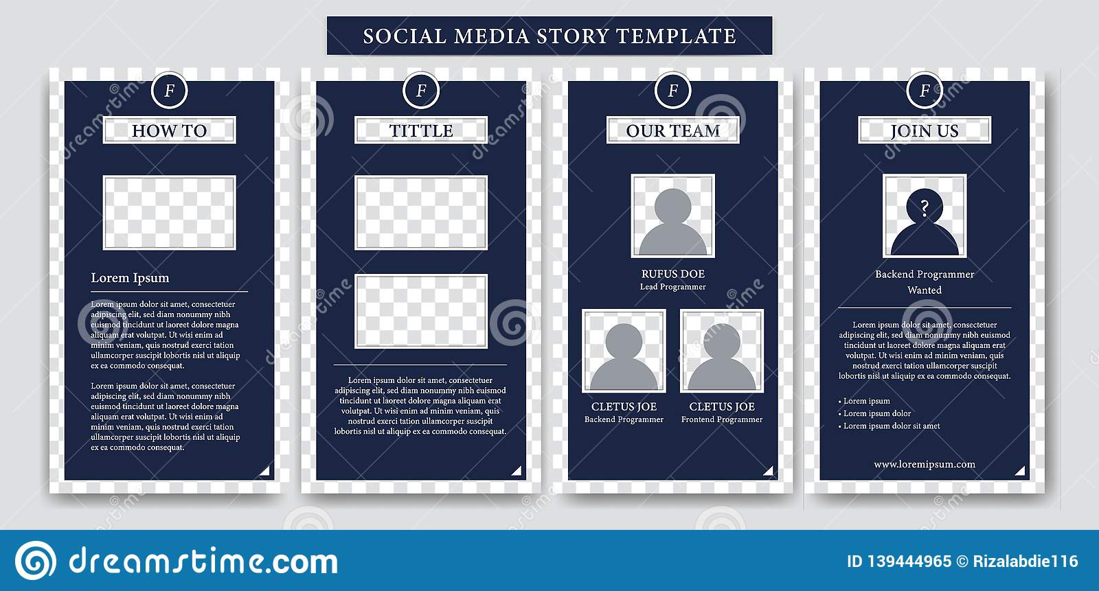 Instagram Story Design Formal Template For Company Business