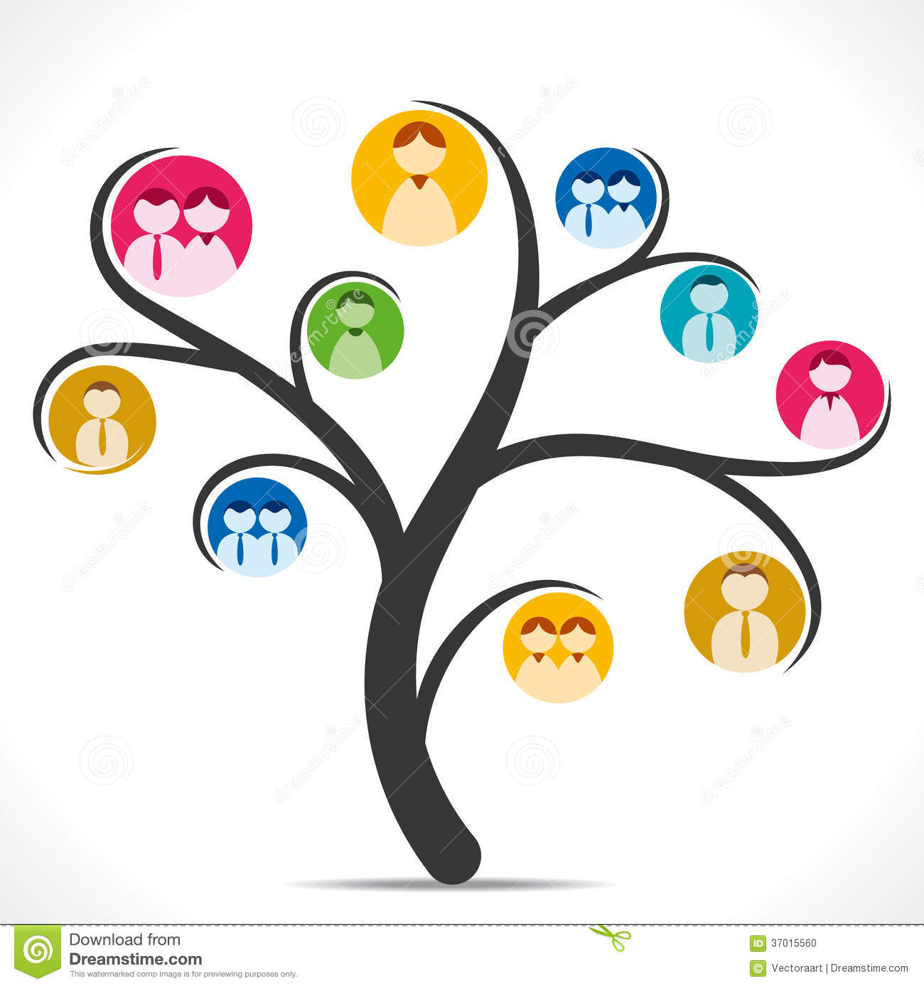 Social media tree stock vector. Image of earth, couple ...