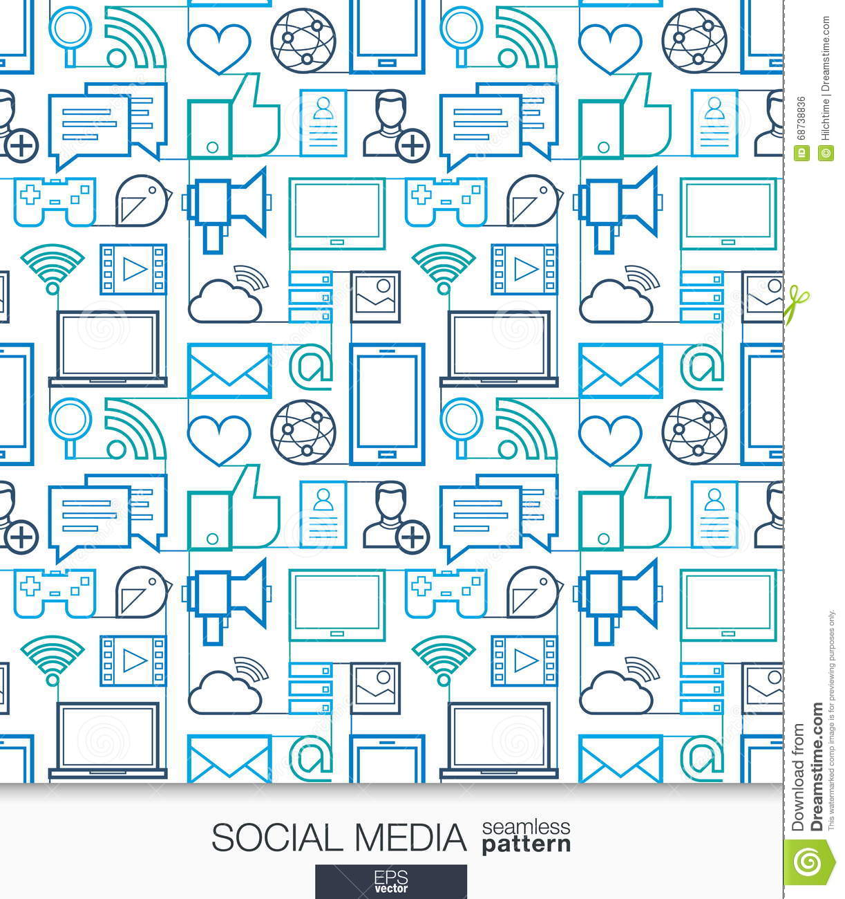 Social Media Wallpaper. Network Communication Seamless