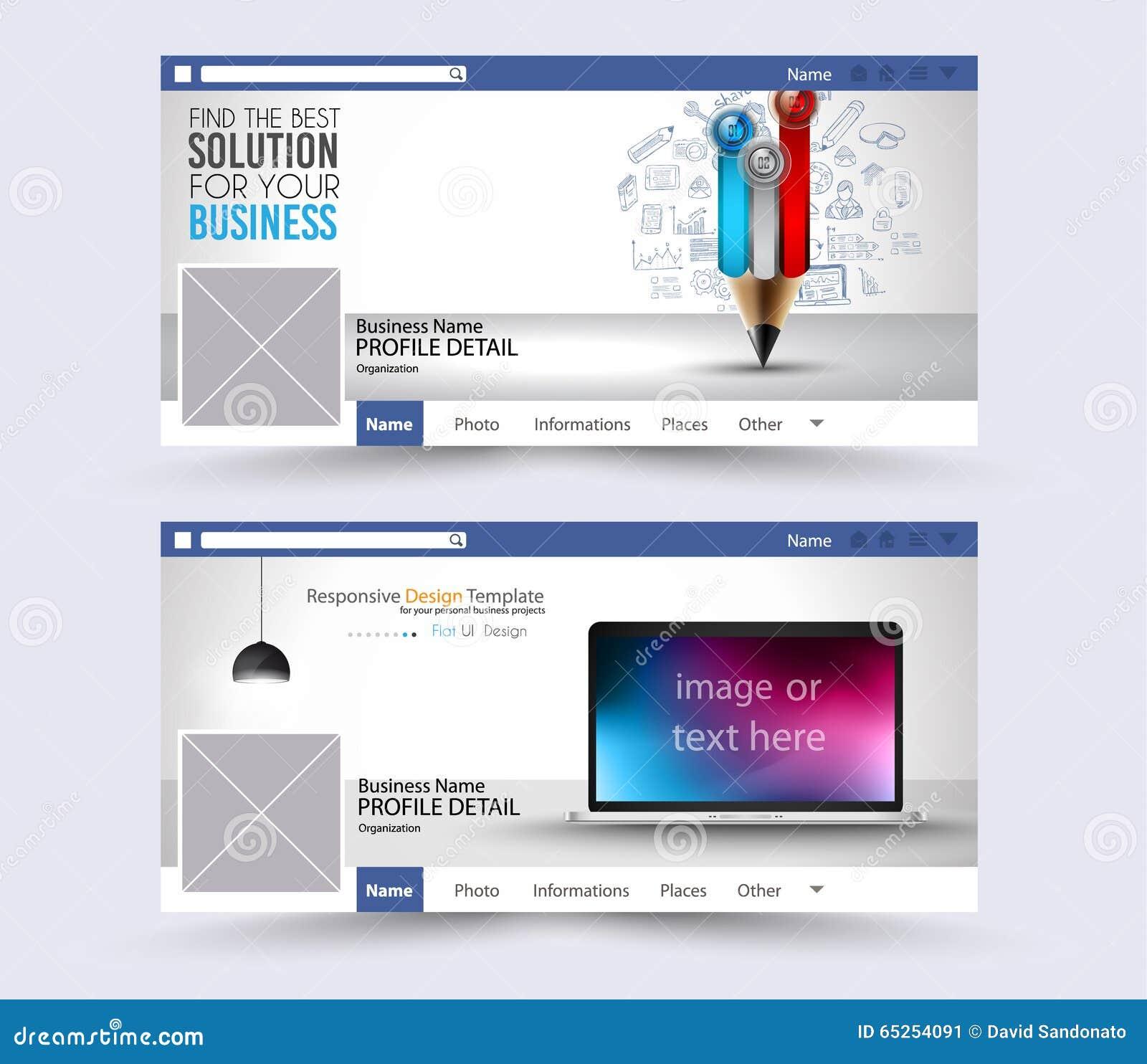 Social Media Web Banner Website Header For Page Stock Vector