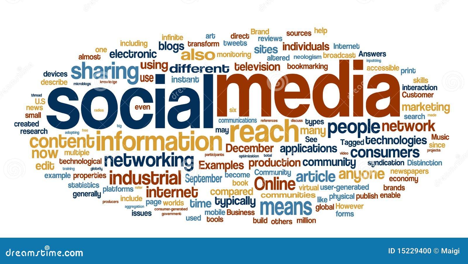 Social Media Word Cloud Stock Photo - Image: 15229400