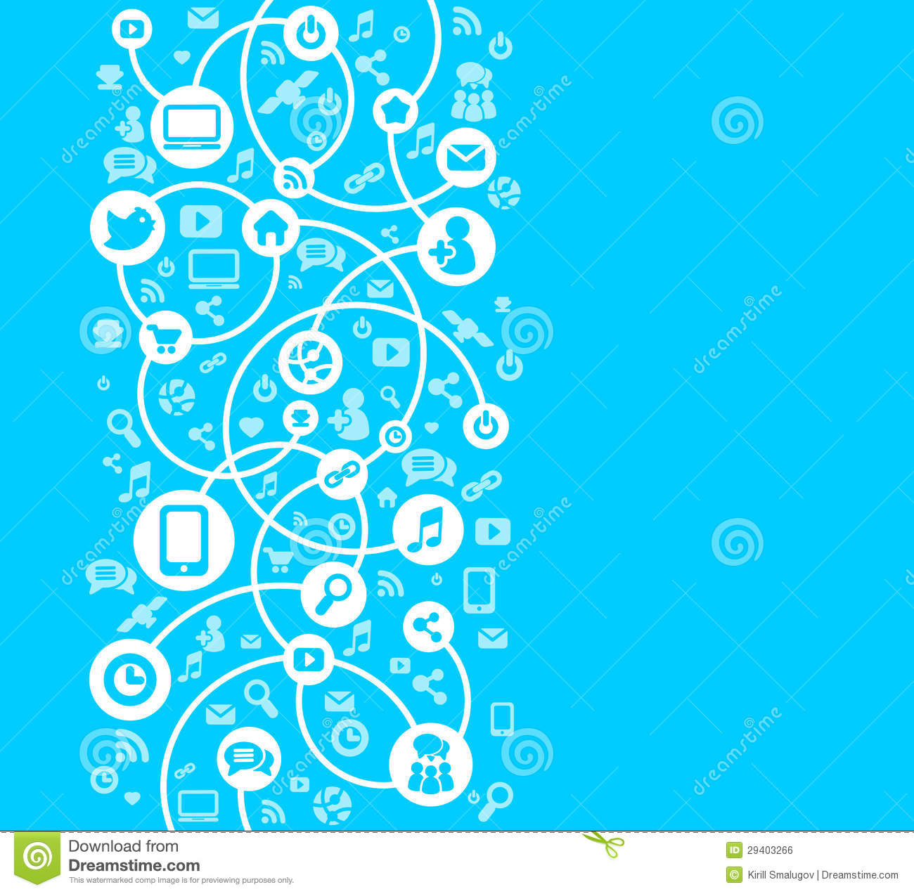 Social Network Background Of The Icons Vector Royalty Free ...