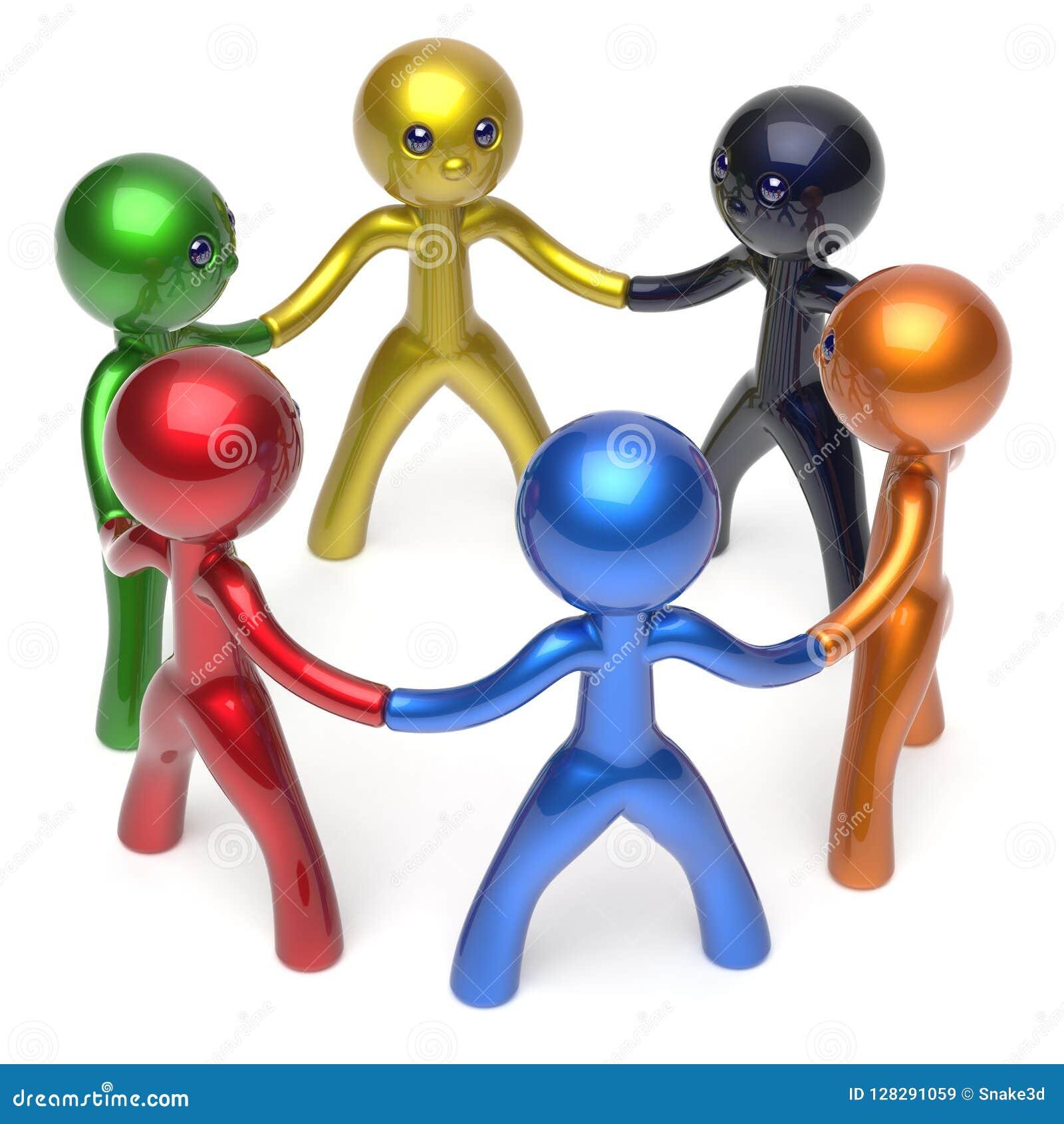 Social Network Characters Teamwork Human Resources Circle Stock