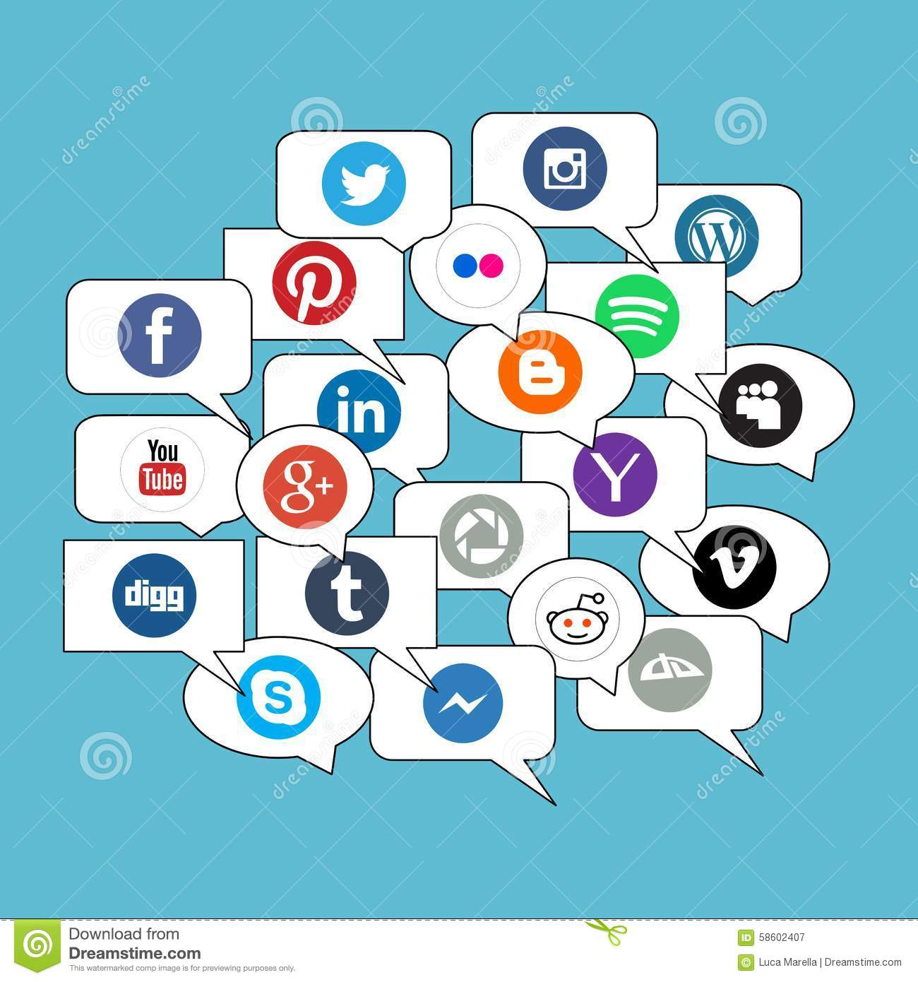 Social networks for communication: a selection of sites