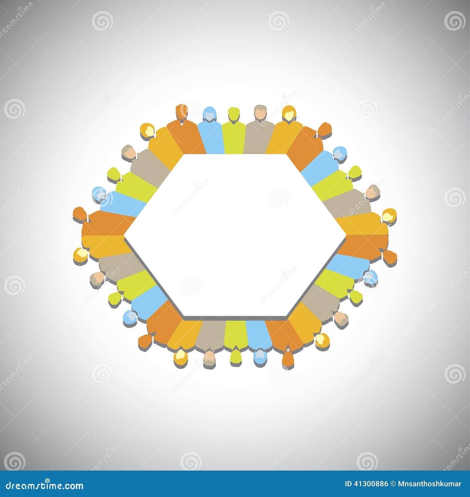 Social Network, Community, Executives Meeting - Concept ...