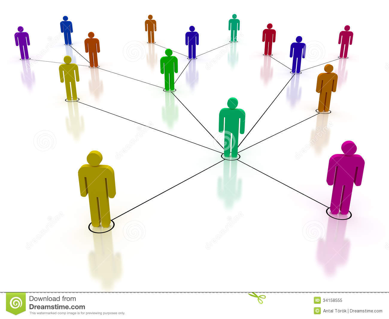 Concept image representing network, networking, connection, social ...