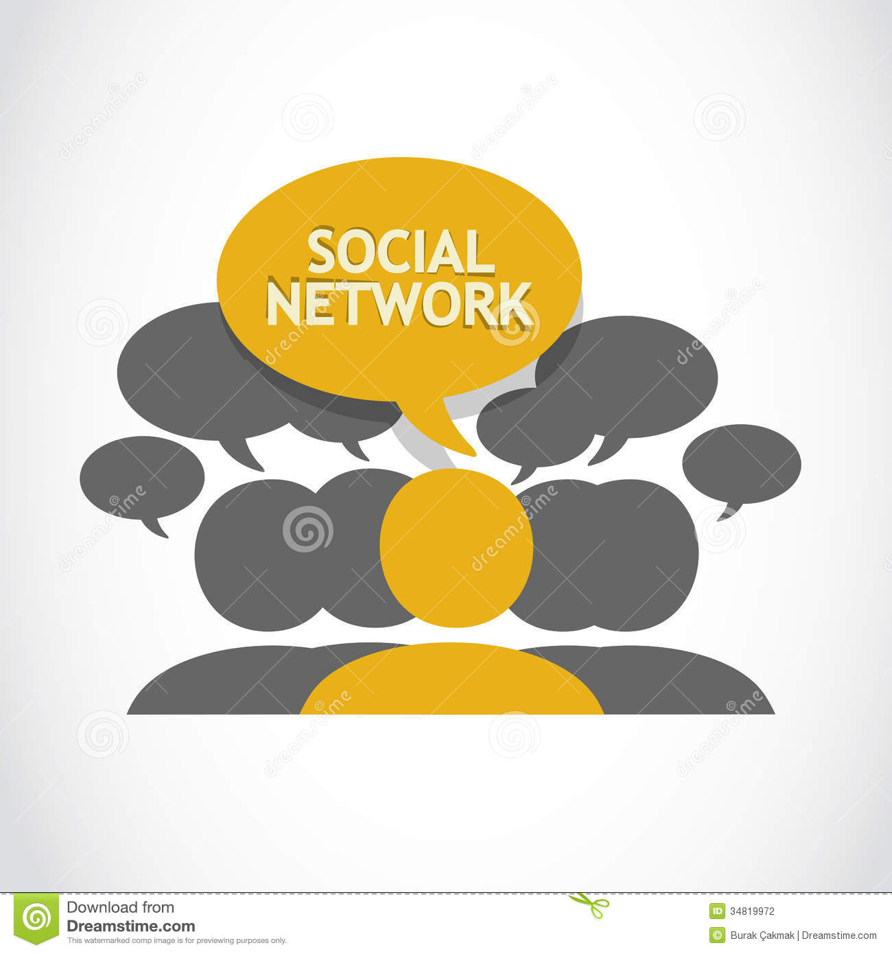 Social network connections abstract background