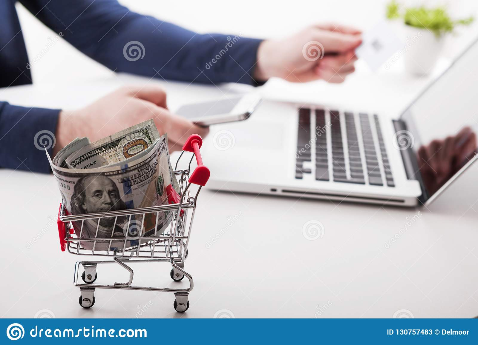 Social Network Diagram As Online Shopping Concept Stock Image