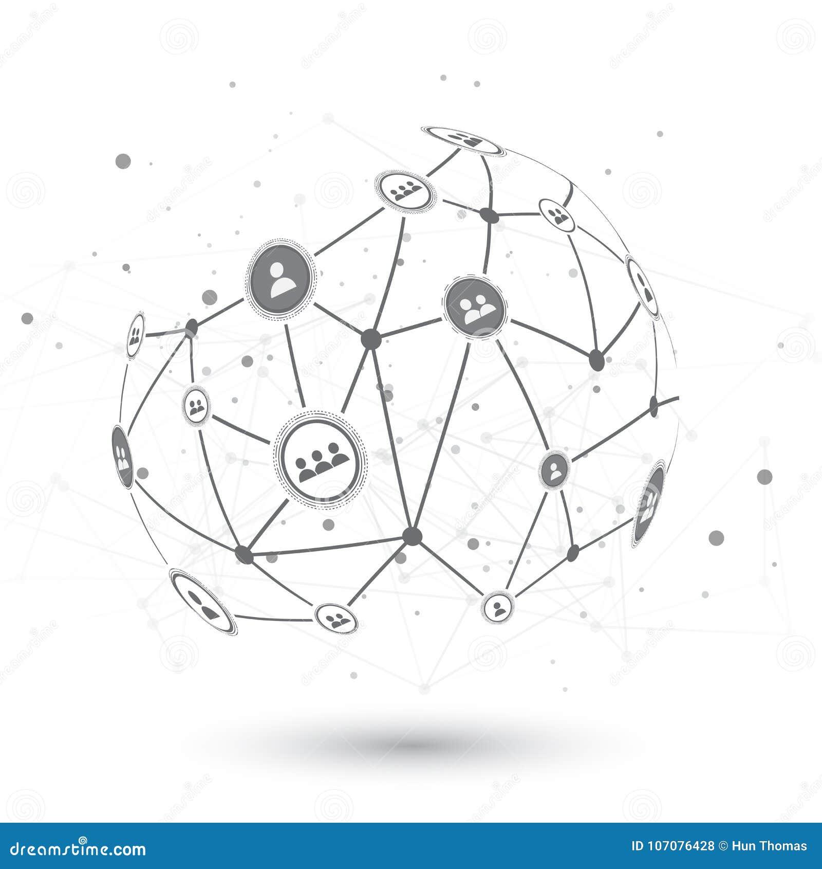 Social Network EPS10 Vector Design Concept Illustration