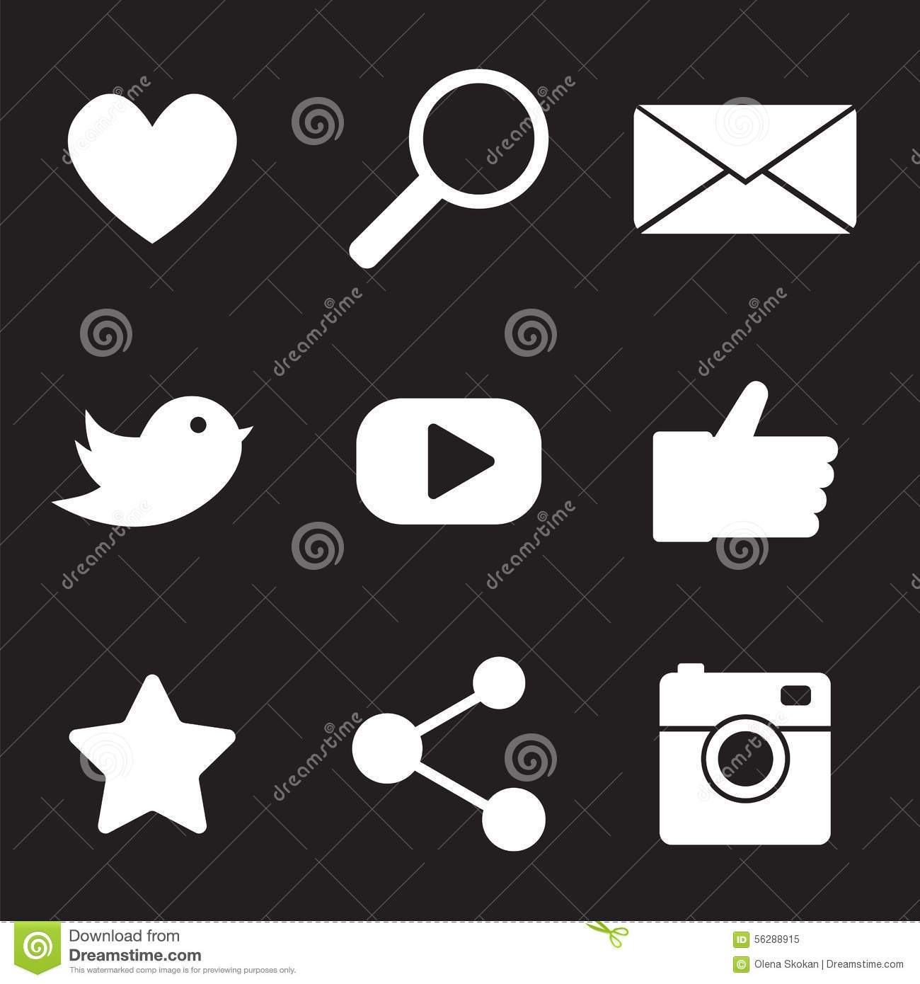 Information Technology Flat Icon Set Vector Illustration