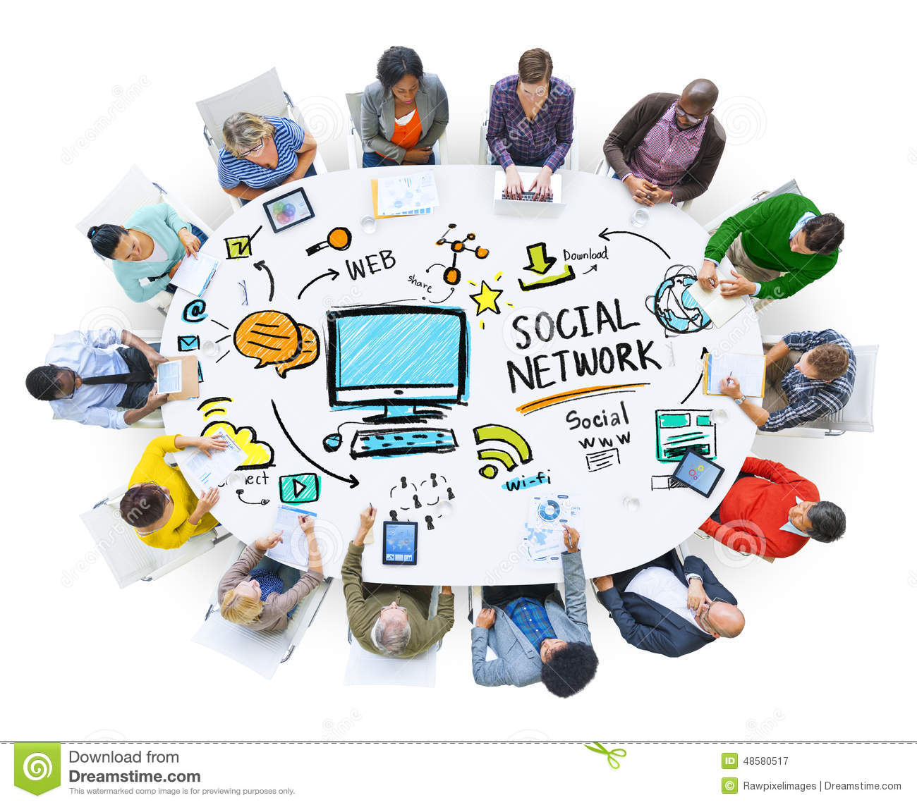 Social Network Social Media People Meeting Communication