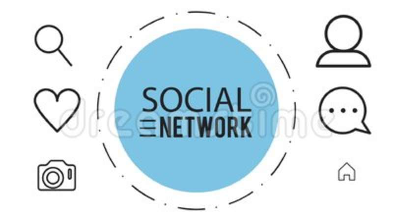 Social Network Symbols Hd Animation Stock Video Video Of Elements