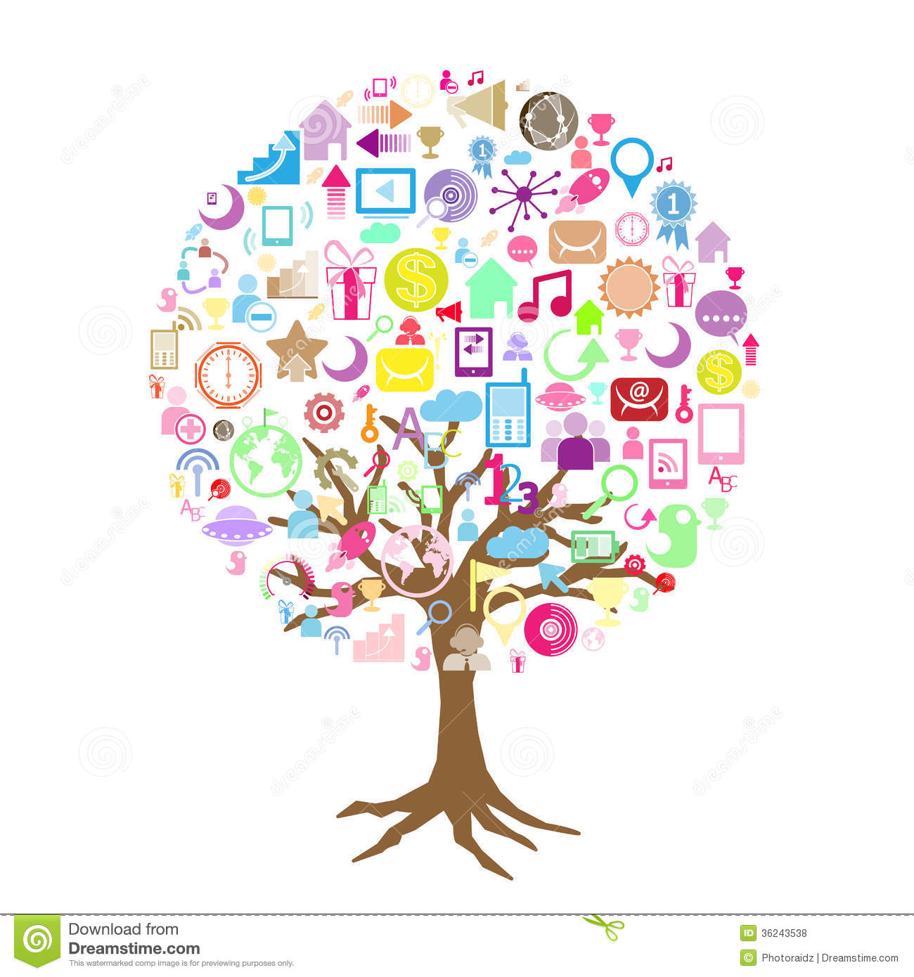 Social Network Tree Royalty Free Stock Photos - Image: 36243538