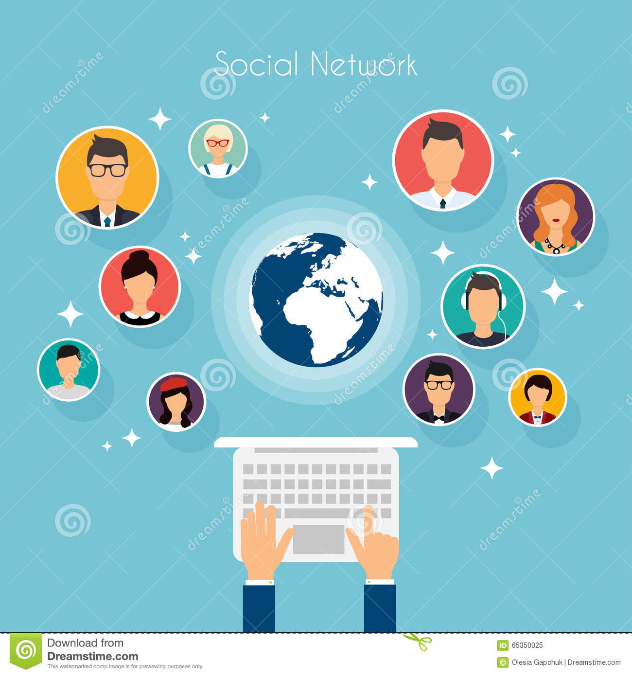 My 1st put up social-network-vector-concept-flat-design-illustration-web-sites-infographic-human-hand-laptop-avatars-set-65350025