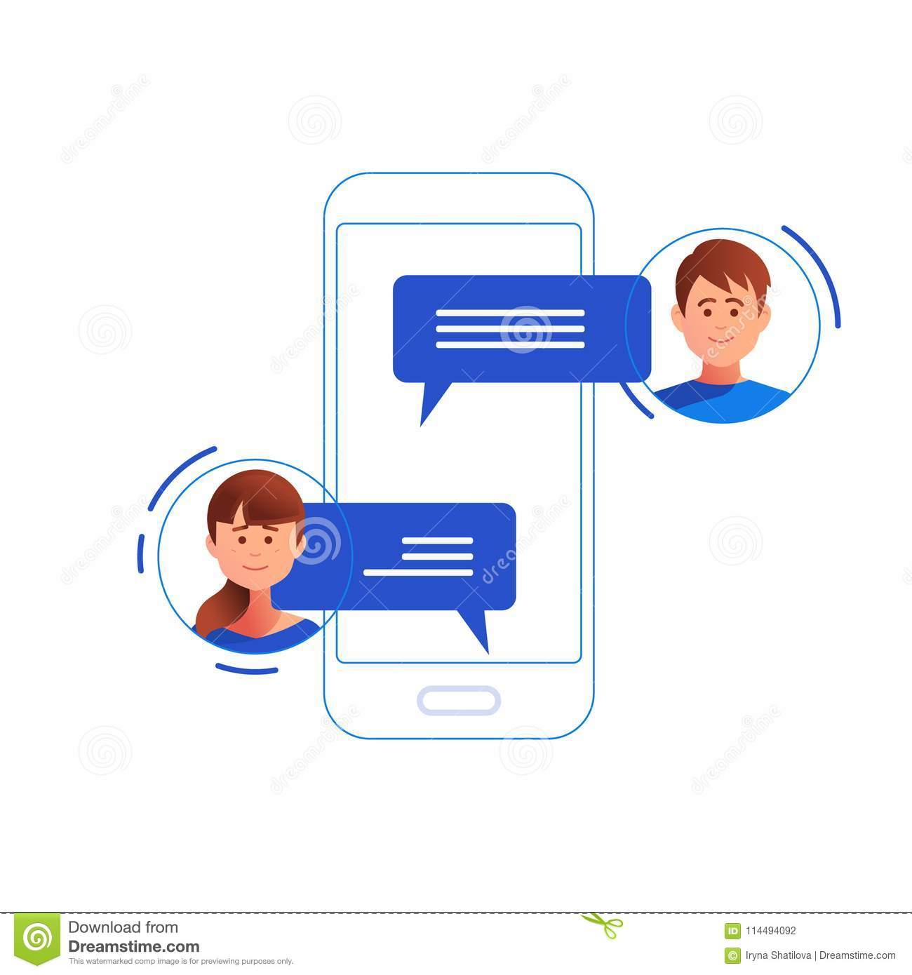 Social networking concept. Chatting