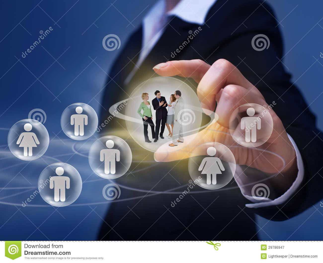 Social Networking Concept Stock Image Image Of Glowing 29786947