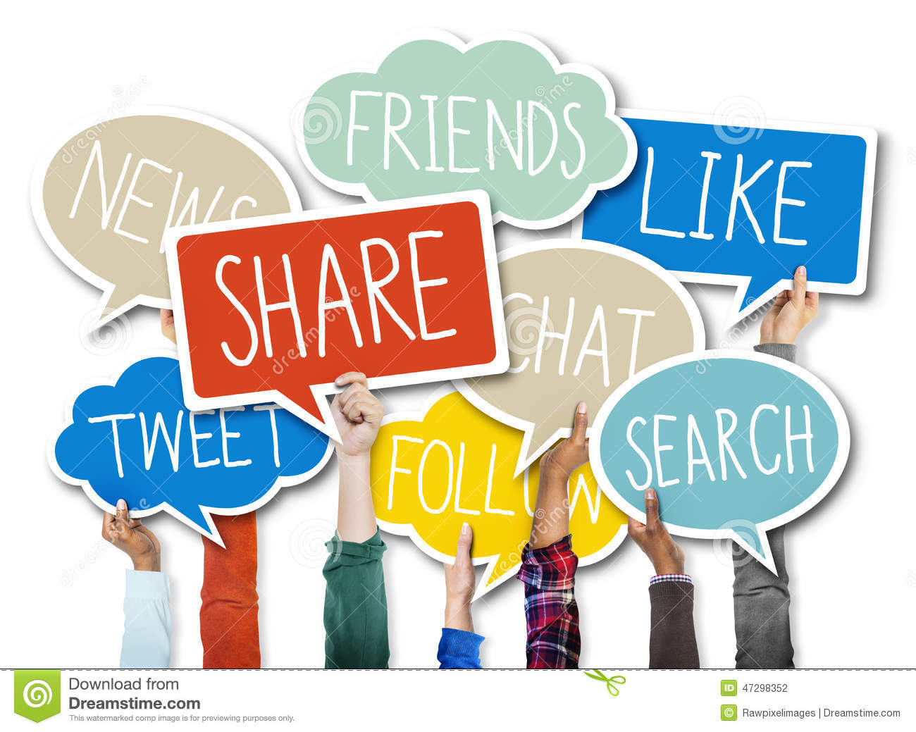 Social Networking Connection Technology Sharing Concept