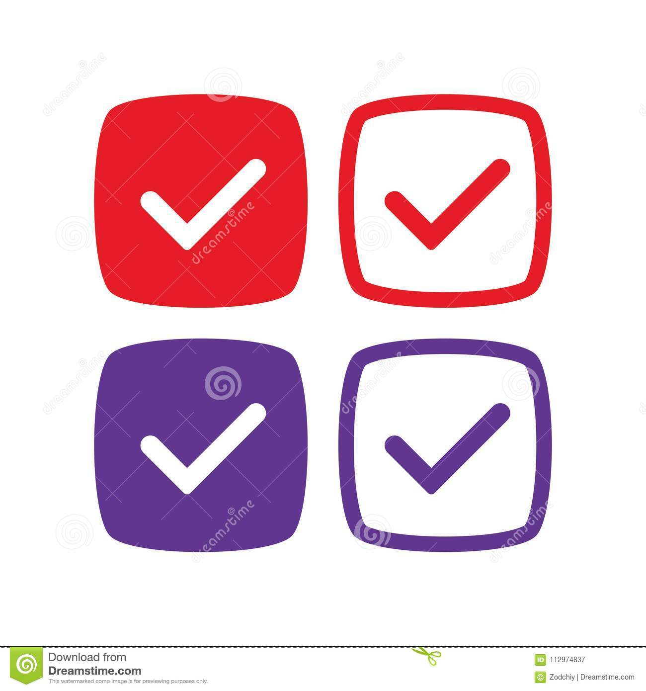 Social-networks-verified-badges-2 Copy Stock Vector - Illustration