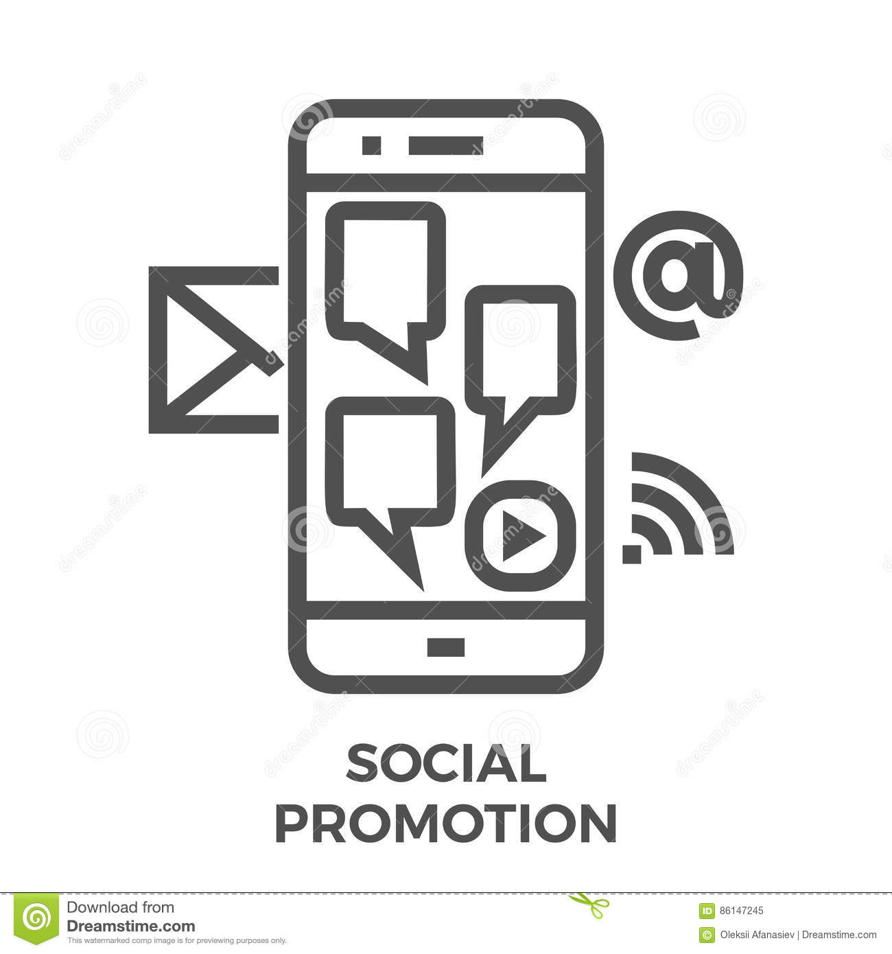 Social Promotion line icon