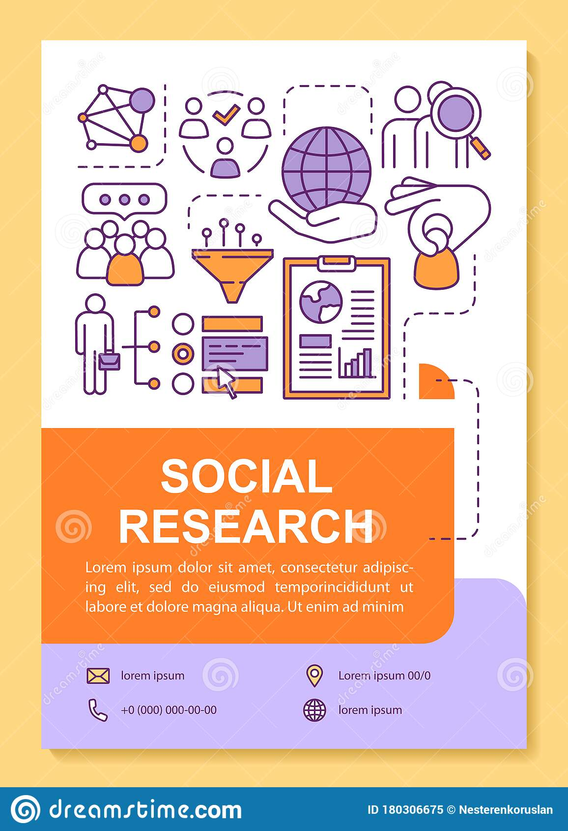 Social Research Poster Template Layout. Sociology And ...