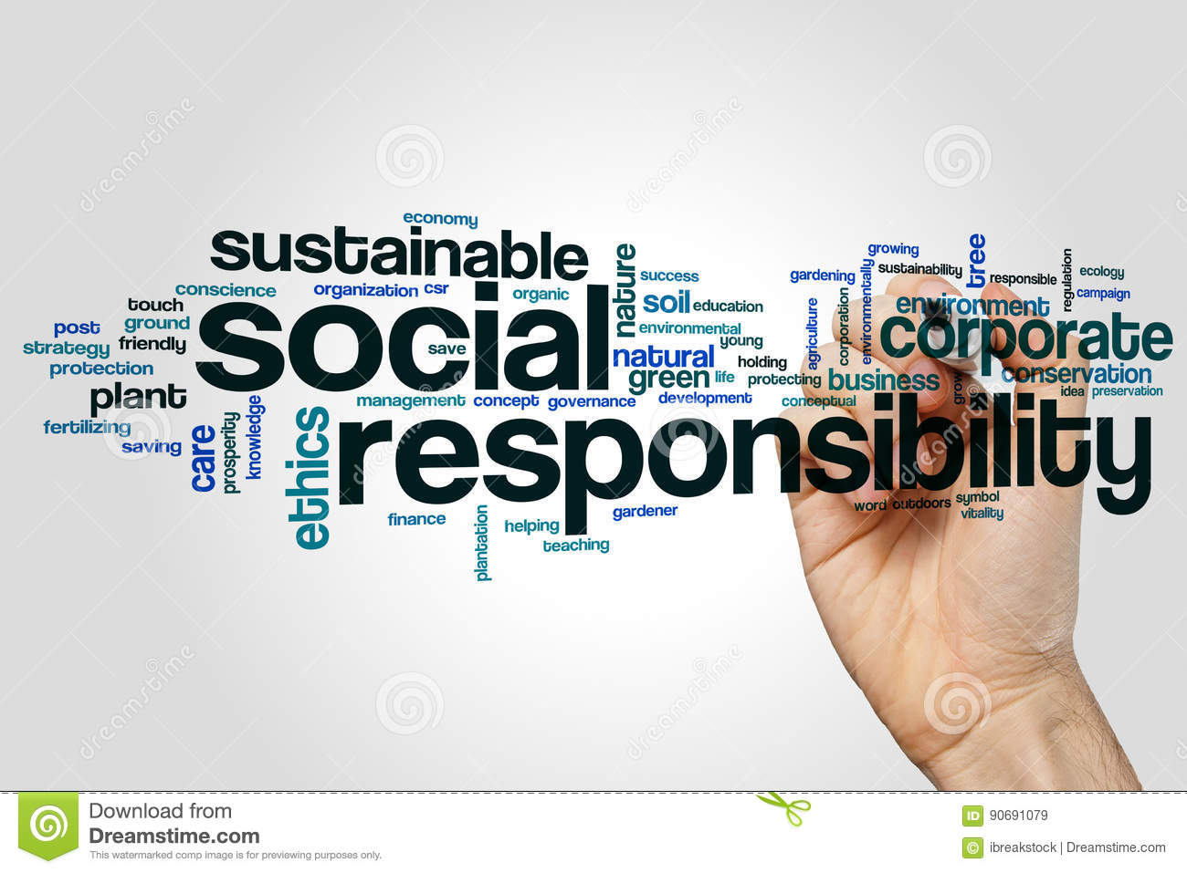Responsibility Word Cloud Stock Photos - Royalty Free Pictures