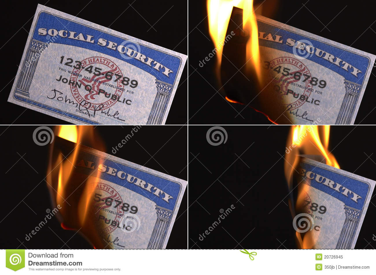 Social Security Card Stock Image Image Of Card Number 20726945
