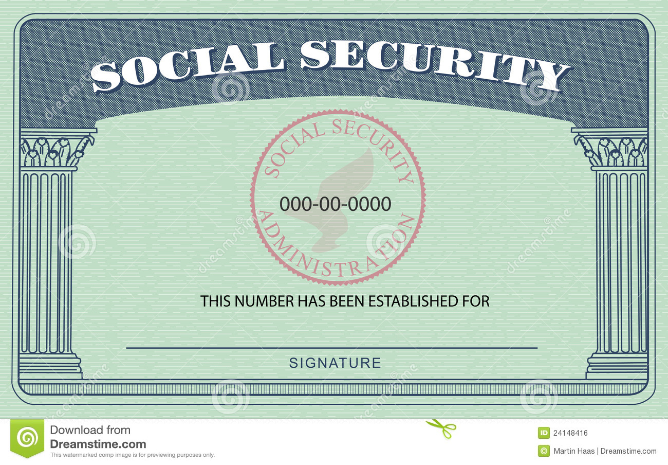 Social Security Card Royalty Free Stock Image Image