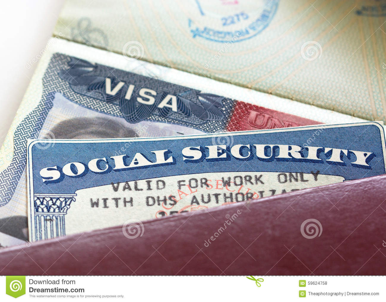 Social Security Card Stock Photo Image Of Symbol Document 59624758