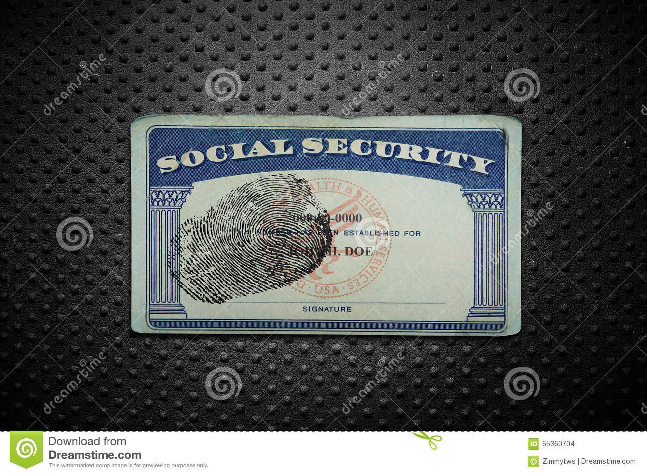 Social Security card stock photo. Image of blank, grunge ...