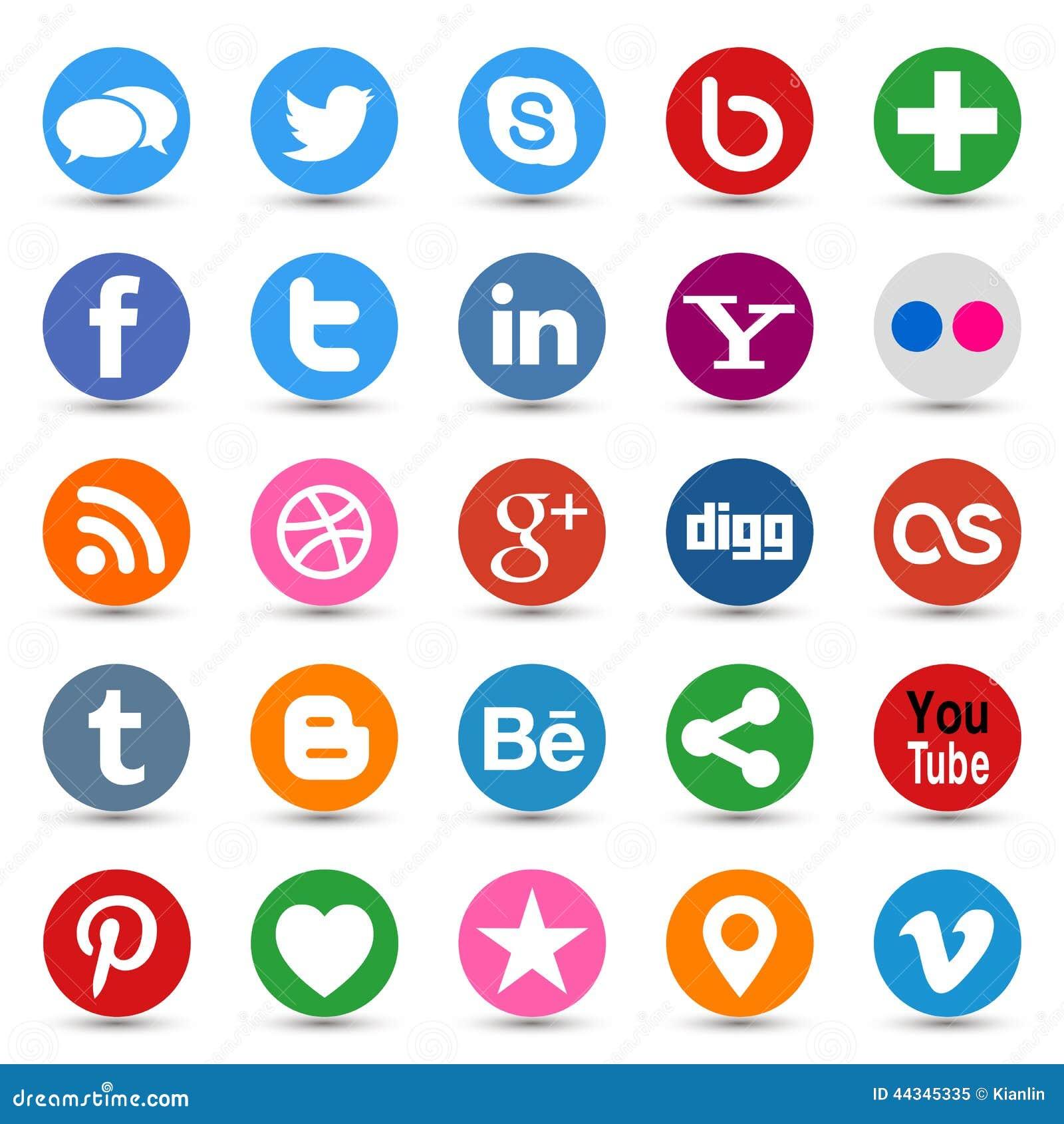 Sociala massmediaknappar