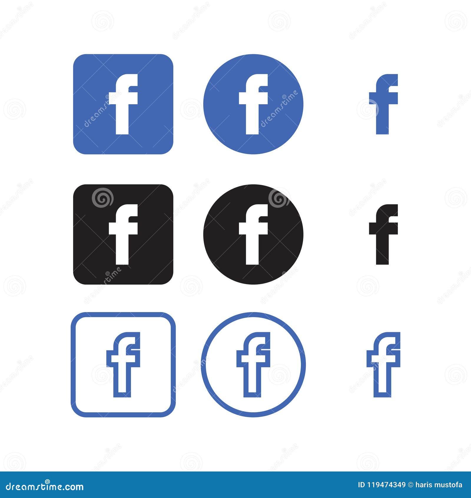 Sociale de Media van Facebook Pictogrammen