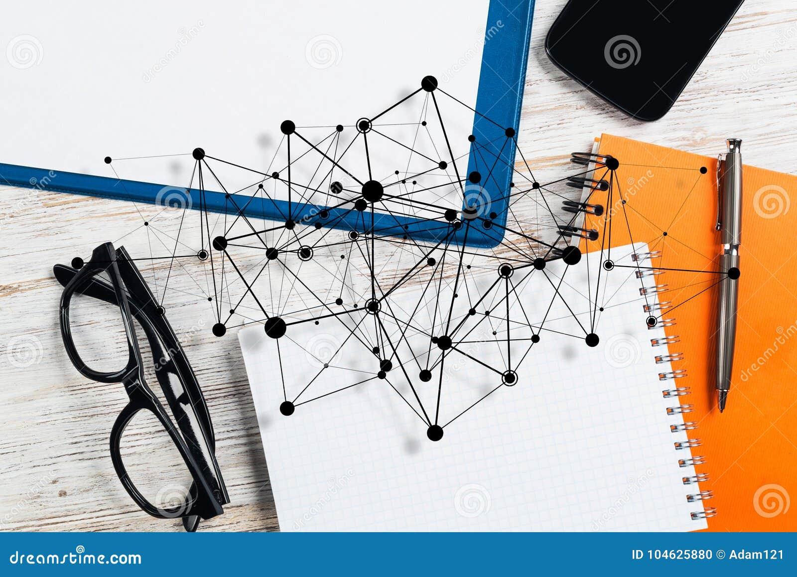 Download Sociale Mededeling En Globaal Voorzien Van Een Netwerkconcept Stock Foto - Afbeelding bestaande uit aansluting, berichten: 104625880