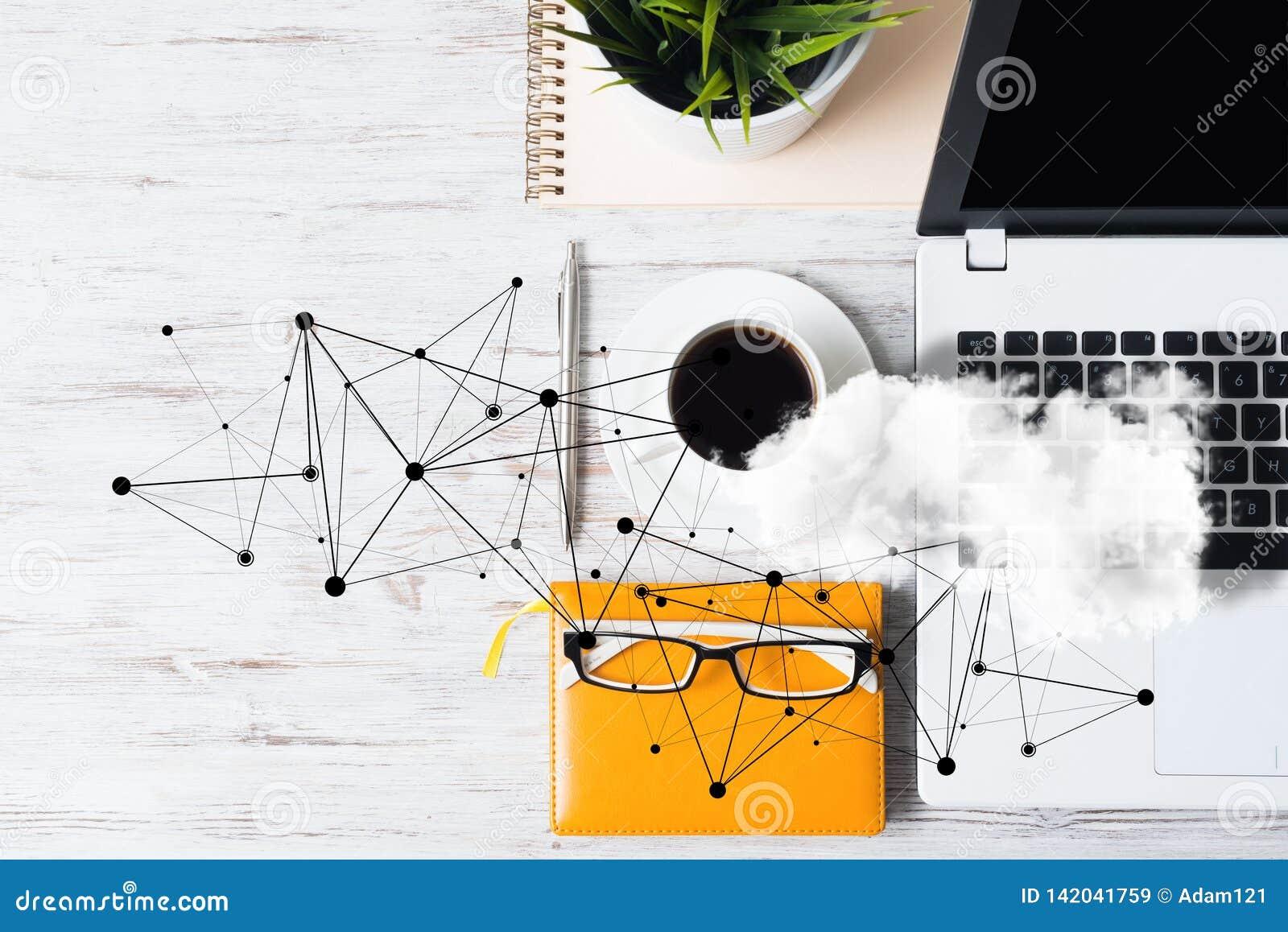 Sociale mededeling en globaal voorzien van een netwerkconcept