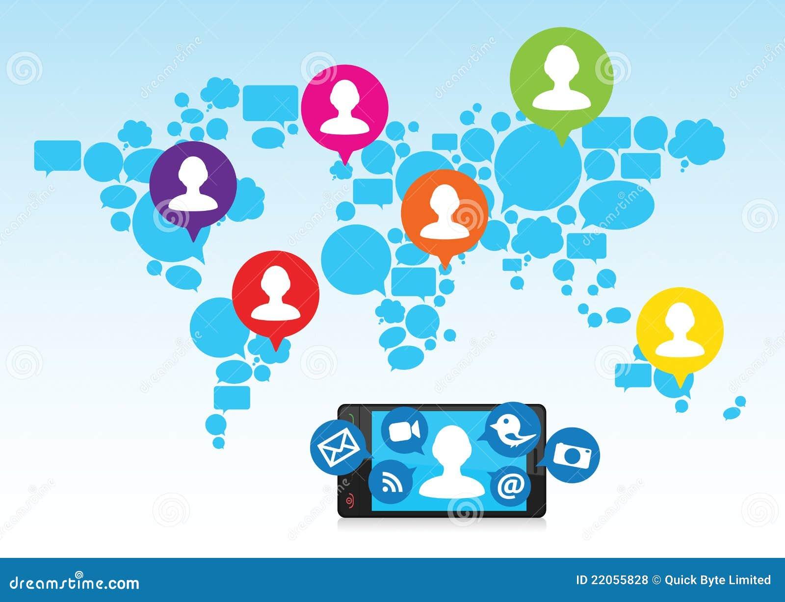 Sociale media en celtelefoon