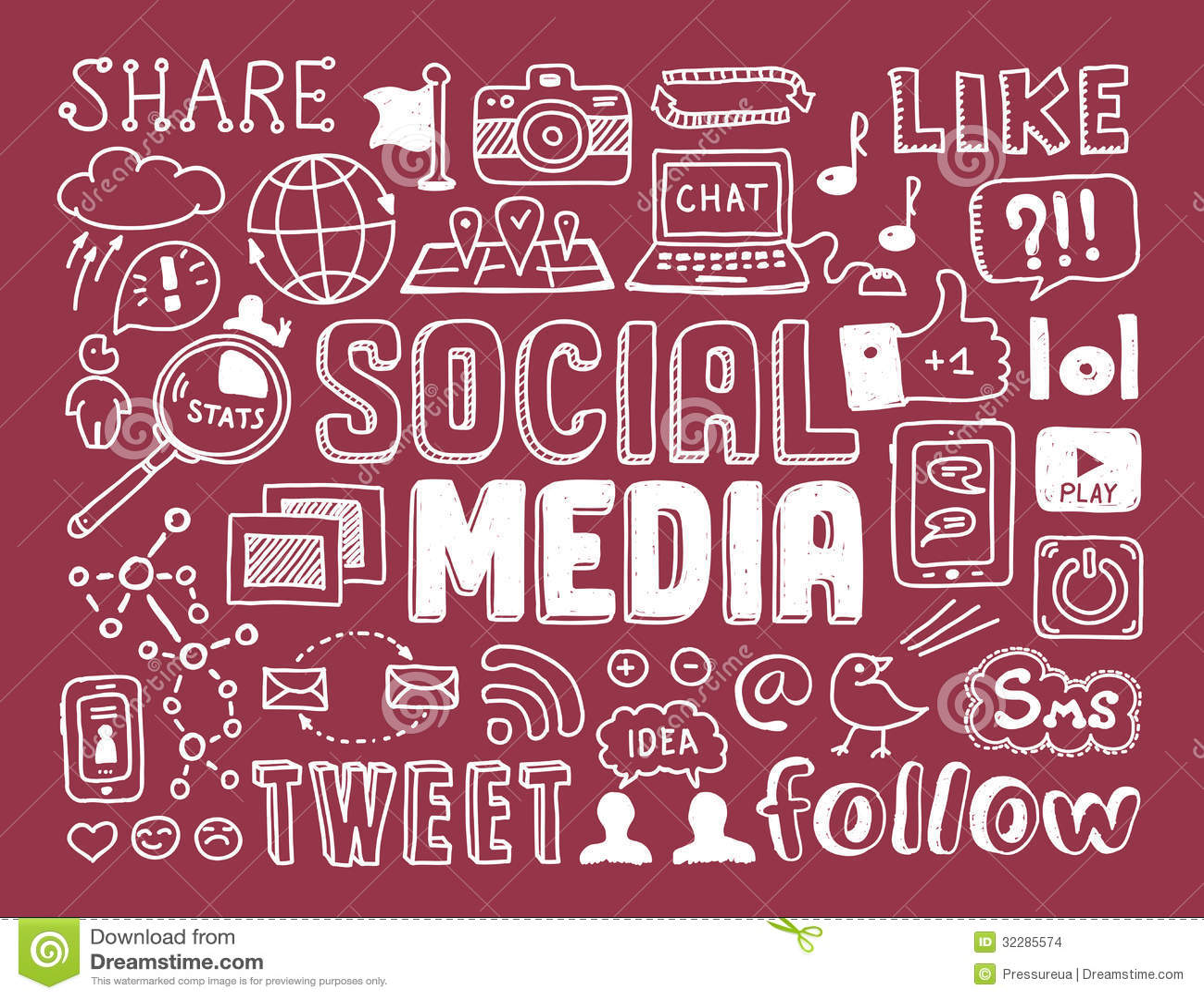 Sociale media krabbelselementen
