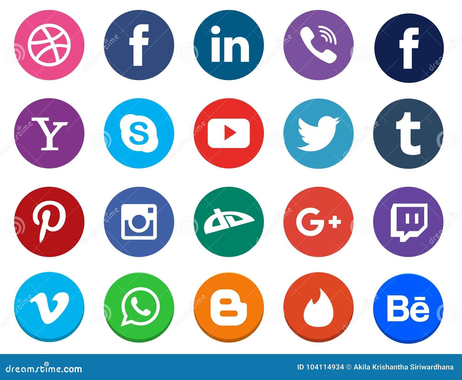 Sociale Media Pictograminzameling