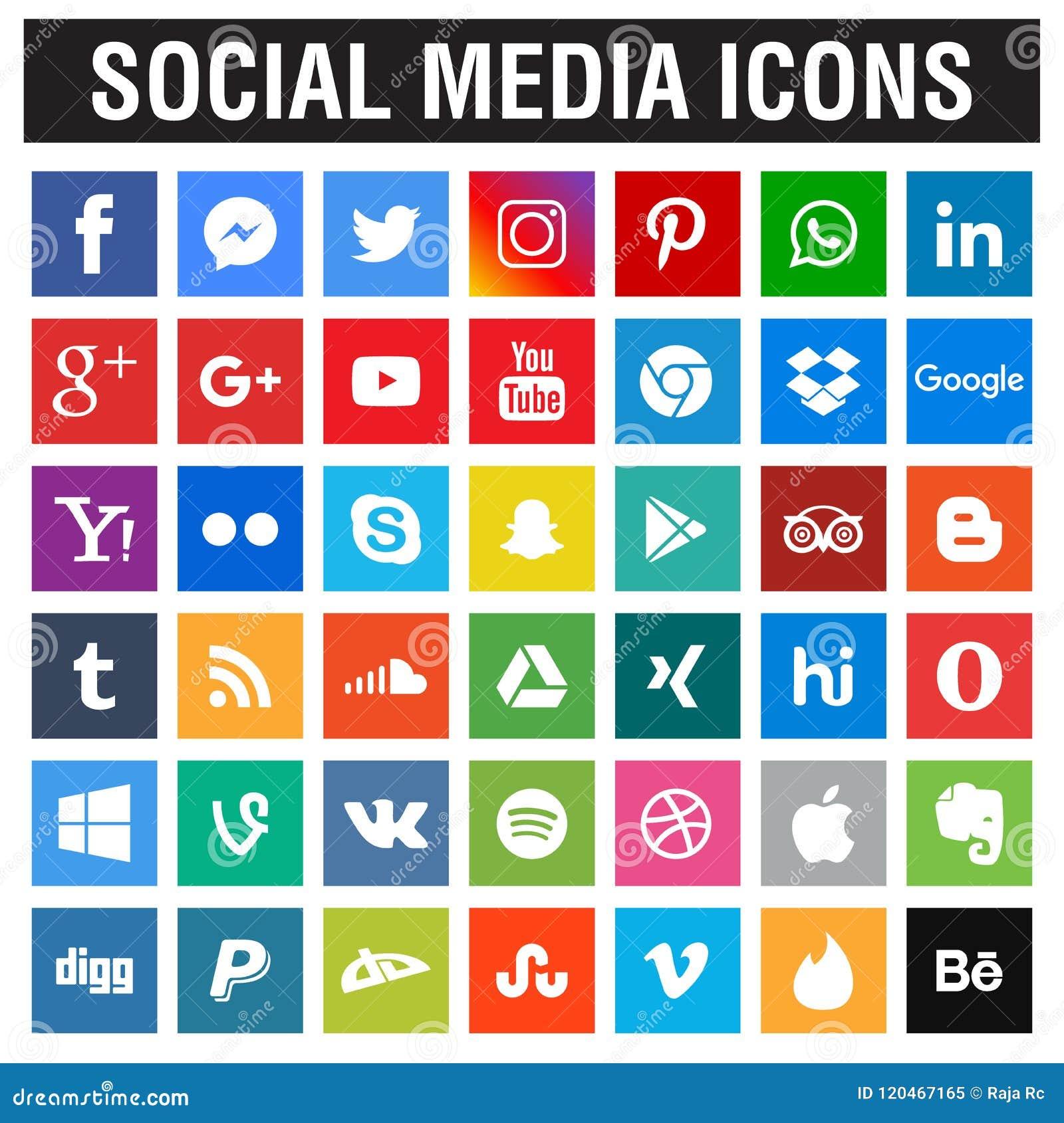 Sociale Media pictogrammeninzameling