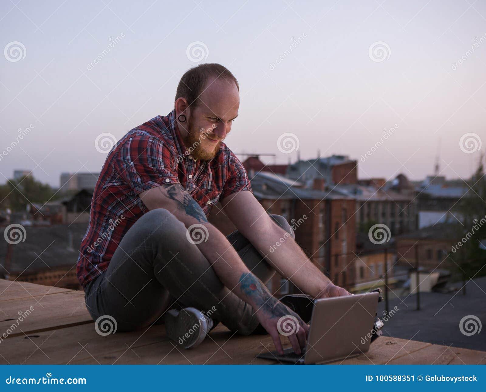 Sociale media prettige mededeling over dak