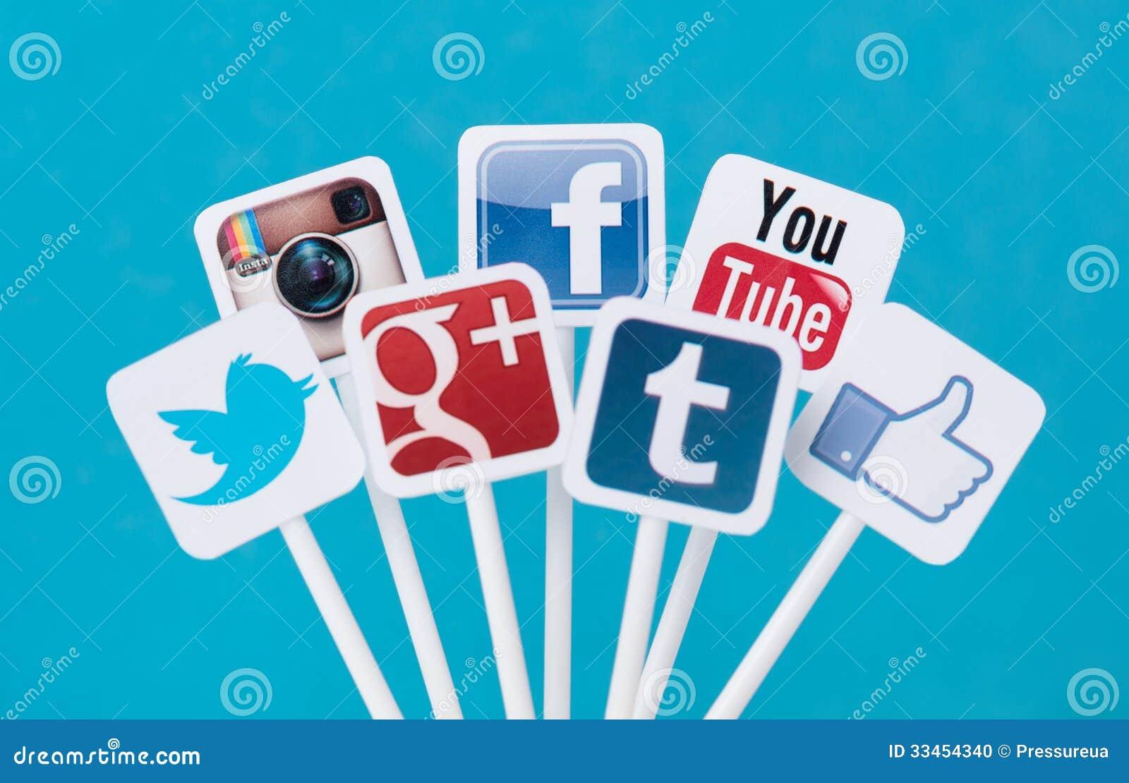 Sociale media tekens