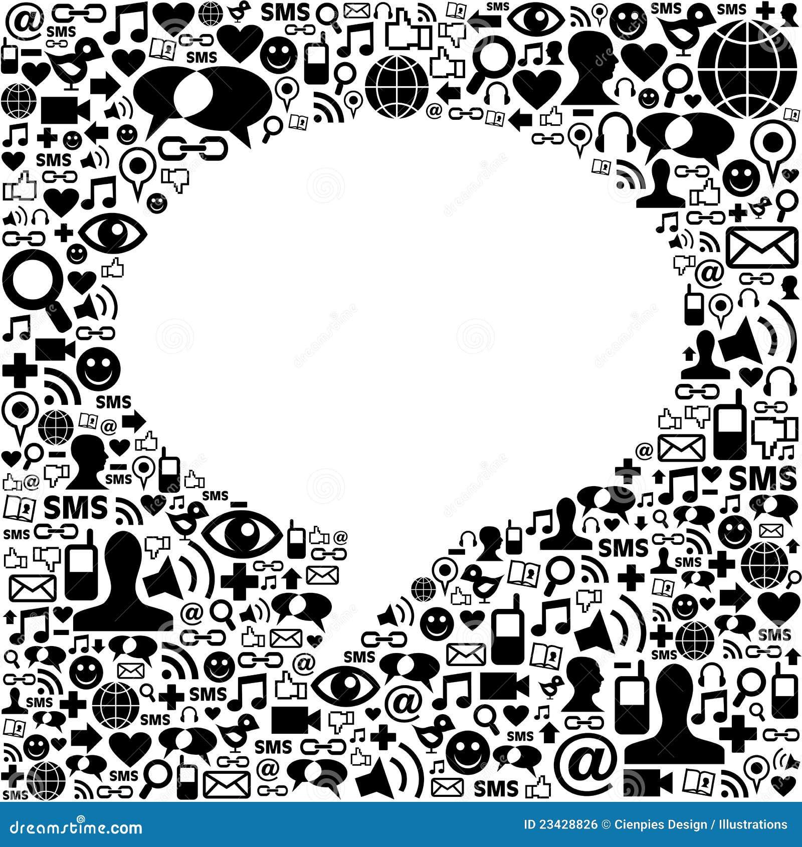 Sociale media toespraakbel