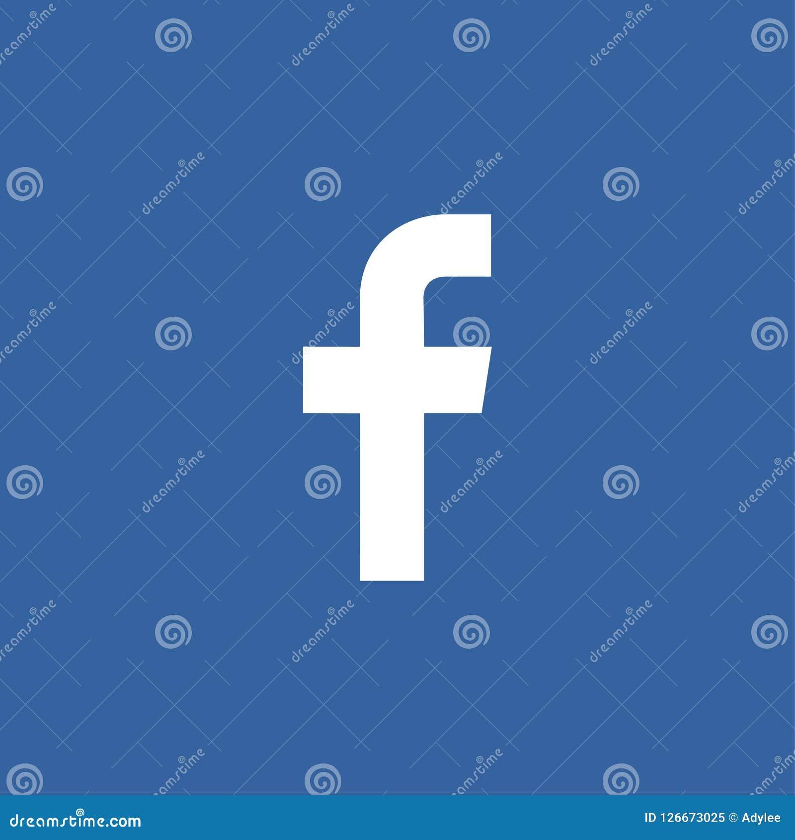 Sociale media van het voorraad de vector eenvoudige F embleem